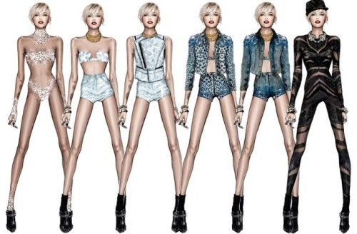 miley-cyrus-tour-outfits robert cavali