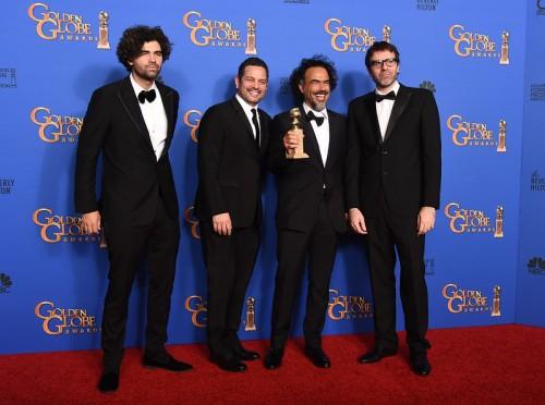 """Armando Bo, Alexander Dinelaris Jr., Alejandro Gonzalez Inarritu, Nicolas Giacobone"""