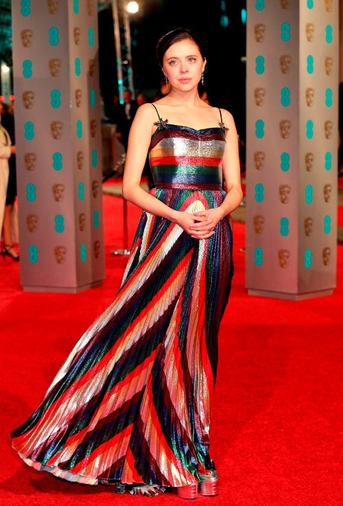 Bel Powley attending the EE British Academy Film Awards at the Royal Opera House, Bow Street, London. PRESS ASSOCIATION Photo. Picture date: Sunday February 14, 2016. See PA Story SHOWBIZ Baftas. Photo credit should read: Yui Mok/PA Wire