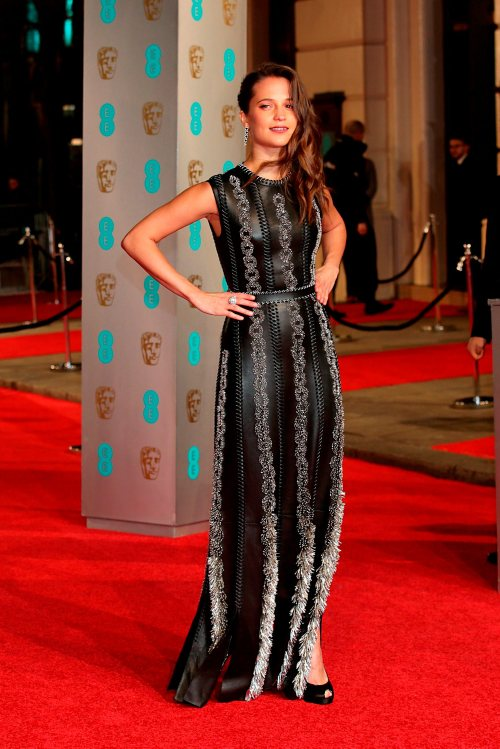 Alicia Vikander attending the EE British Academy Film Awards at the Royal Opera House, Bow Street, London. PRESS ASSOCIATION Photo. Picture date: Sunday February 14, 2016. See PA Story SHOWBIZ Baftas. Photo credit should read: Yui Mok/PA Wire