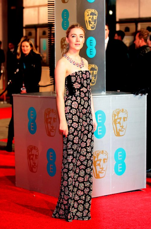 Saoirse Ronan attending the EE British Academy Film Awards at the Royal Opera House, Bow Street, London. PRESS ASSOCIATION Photo. Picture date: Sunday February 14, 2016. See PA Story SHOWBIZ Baftas. Photo credit should read: Yui Mok/PA Wire