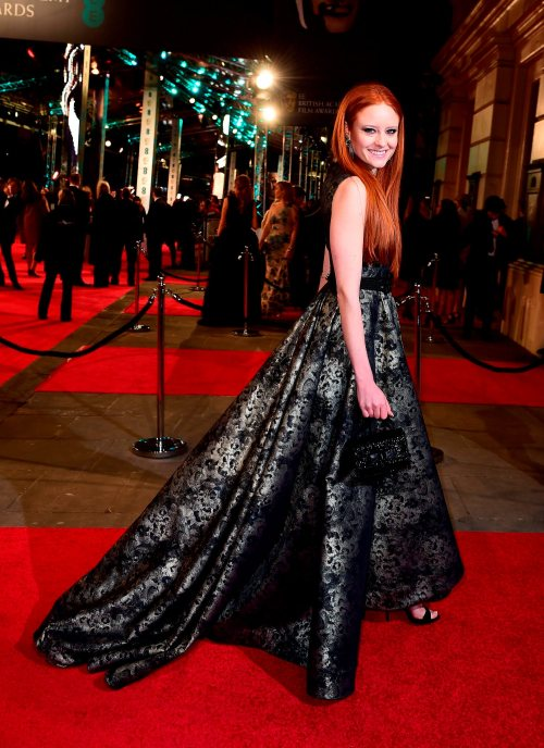 Barbara Meier attending the EE British Academy Film Awards at the Royal Opera House, Bow Street, London. PRESS ASSOCIATION Photo. Picture date: Sunday February 14, 2016. See PA Story SHOWBIZ Baftas. Photo credit should read: Ian West/PA Wire