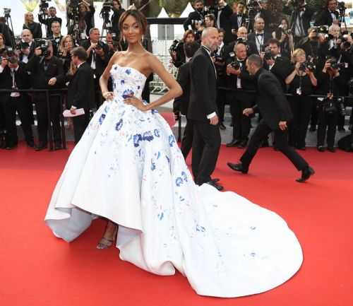 CANNES, FRANCE - MAY 18:  Jourdan Dunn attends the 'The Unkown Girl (La Fille Inconnue)' premiere during the 69th annual Cannes Film Festival at the Palais des Festivals on May 18, 2016 in Cannes, France.  (Photo by Mike Marsland/Mike Marsland/WireImage)